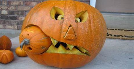 Zucche di halloween le foto di quelle pi strane e for Immagini zucca di halloween